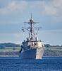 USS Mitscher(DDG-57) approaching Rhu Spit - 21 September 2017