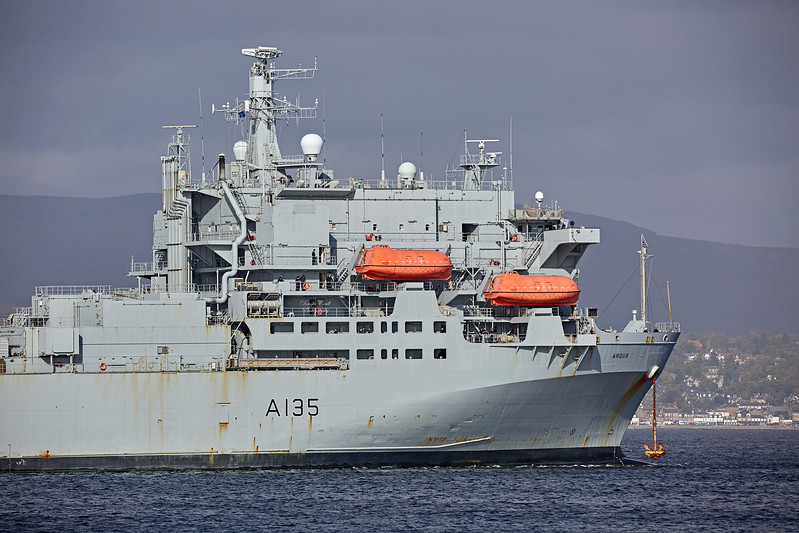 RFA Argus (A135) Off Greenock - 29 September 2017