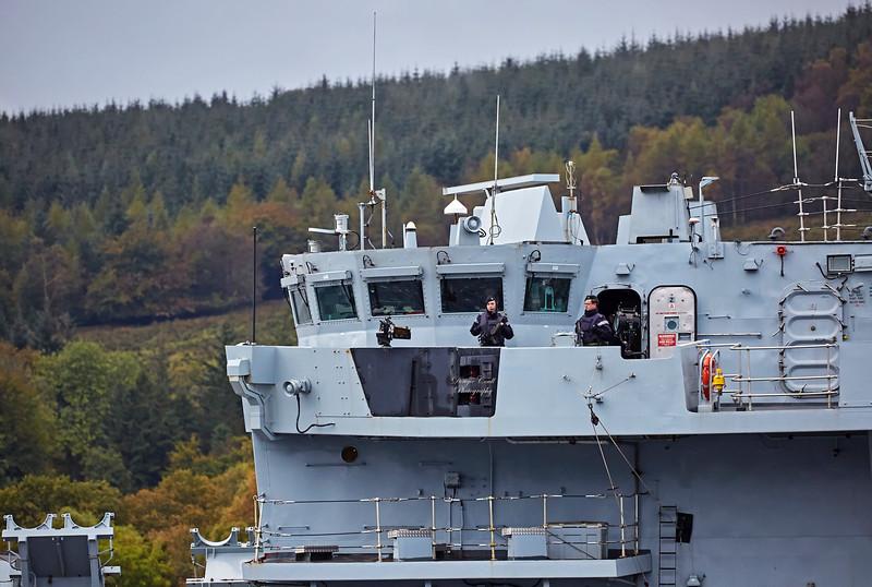 HMS Somerset (F82) off Rhu - 9 October 2017
