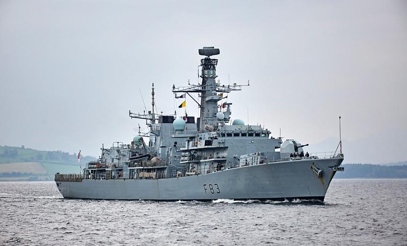 HMS St Albans (F83) off Greenock - 27 September 2017