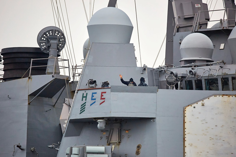 USS Winston S Churchill (DDG-81) at Rhu Spit - 27 September 2017