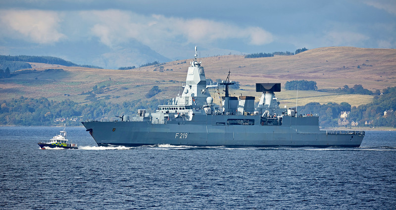 FGS Sachsen (F219) at Cloch Point, Gourock - 25 September 2017