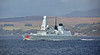 HMS Dragon (D35) off Cloch Point, Gourock - 11 October 2017