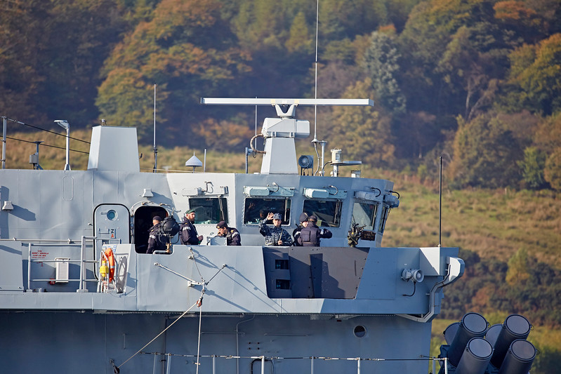 HMS Argyll (F231) off Rhu - 29 September 2017