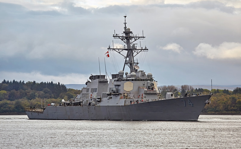 USS McFaul (DDG-74) off Rhu Spit - 9 October 2017