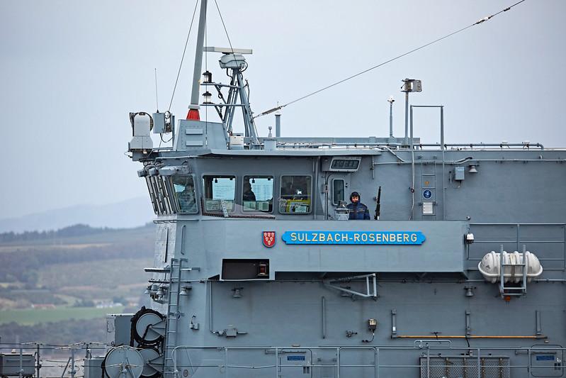 FGS Sulzbach-Rosenberg (M1062) approaching Greenock - 3 October 2017