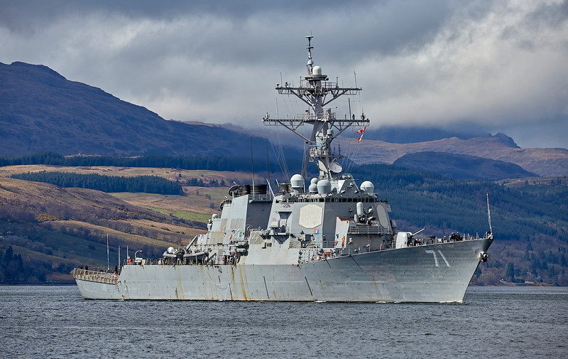 USS Ross (DDG-71) at Rhu - 22 April 2018