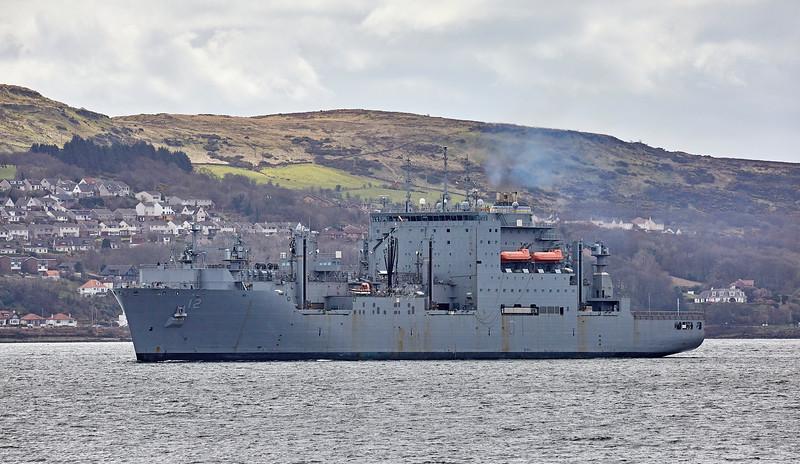 USNS William McLean (T-AKE-12) at Gourock - 20 April 2018