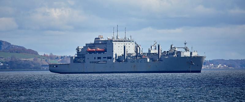 USNS William McLean (T-AKE-12) off Kilcreggan - 22 April 2018