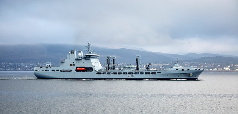 RFA Tidespring Off Cloch Point, Gourock - 20 April 2018
