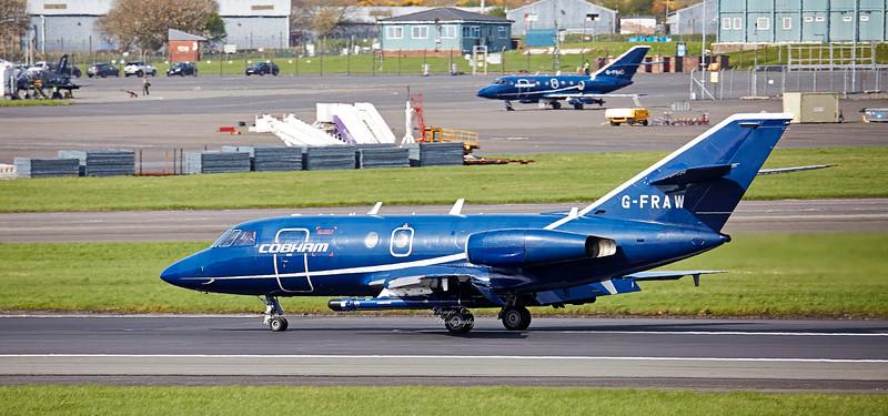 Dassault Falcon 20D (K-FRAW) Prestwick Airport - 27 April 2018