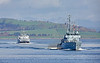 FGS Bad Bevensen and HNOMS Otra  passing Greenock - 20 April 2018