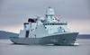 HDMS Neils Juel (F363) passing Custom House Quay - 19 April 2018