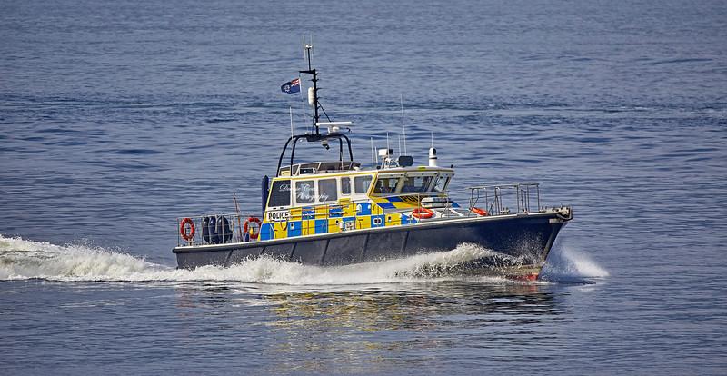 MOD Police Boat 'Condor' off Cloch Lighthouse - 12 April 2019
