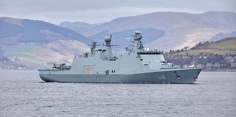 HDMS Absalon (L16) off Greenock - 28 March 2019