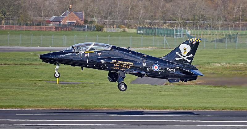 British Aerospace Hawk T.1A (XX285) at Prestwick Airport - 2 April 2019