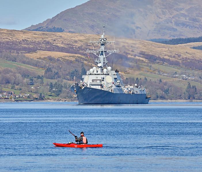 USS Gravely (DDG-107) at Rhu Spit - 31 March 2019