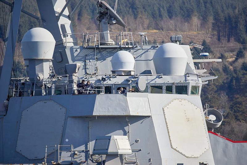 USS Porter (DDG-78) at Rhu Spit - 31 March 2019
