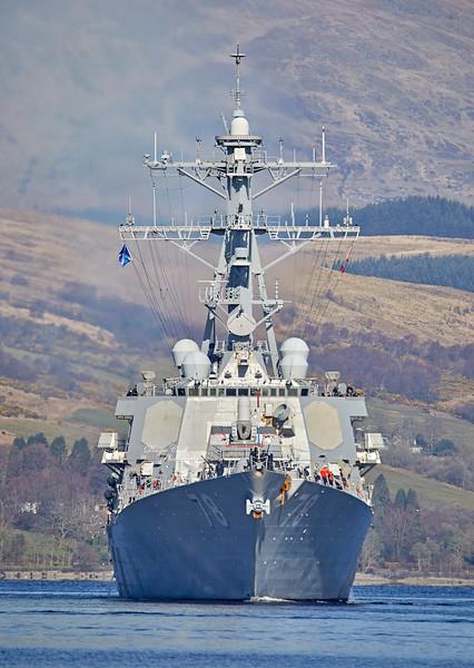 USS Porter (DDG 78) at Rhu Spit - 31 March 2019