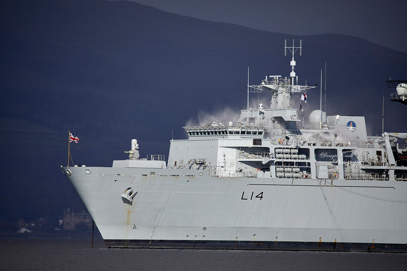 HMS Albion (L14) at Greenock - 16 October 2019
