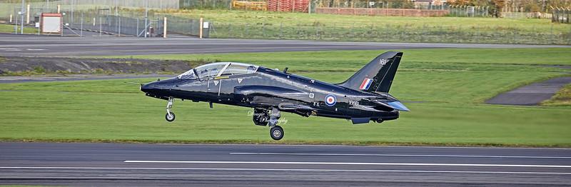 Hawk T.1W (XX161) at Prestwick Airport - 11 October 2019