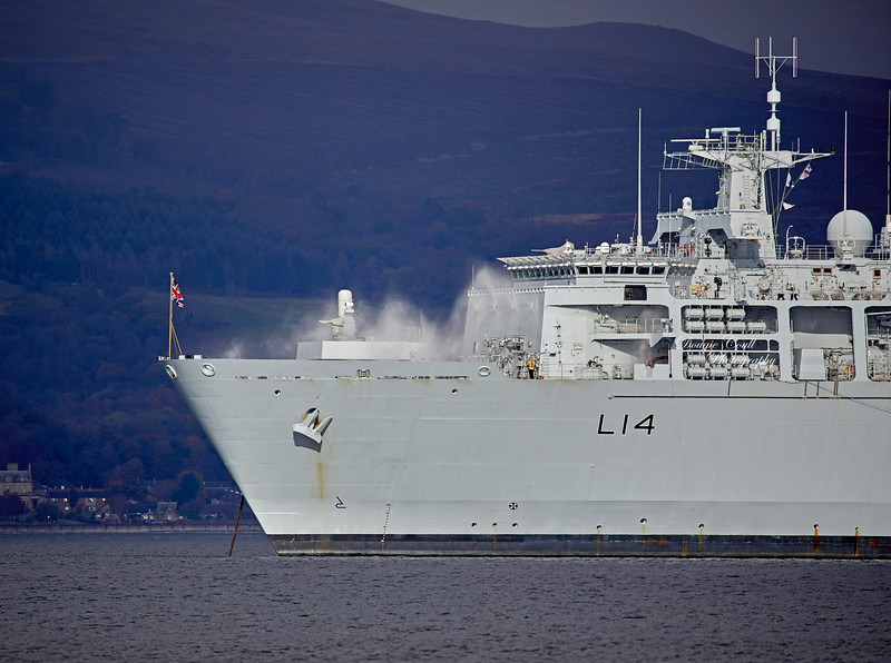 HMS Albion (L14) at Greenock - 16 October 2019