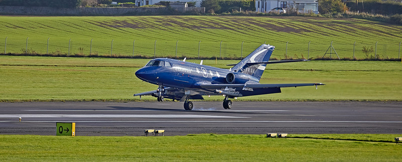Dassault Falcon 20C (G-FRAH) at Prestwick Airport - 11 October 2019