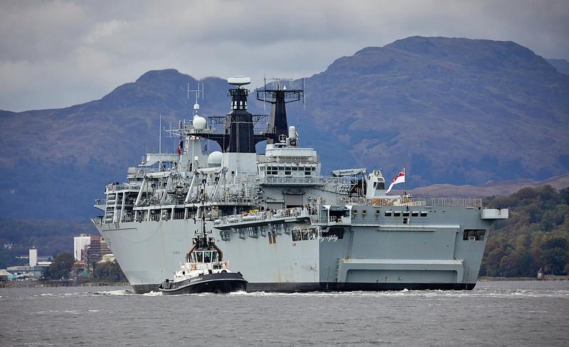 HMS Albion (L14) at Faslane Naval Base - 3 October 2019