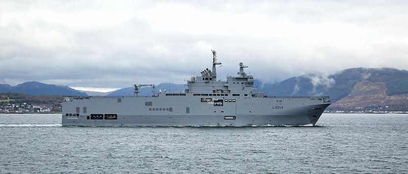 FS Tonnerre (L9014) off Cloch Point, Gourock - 4 October 2019