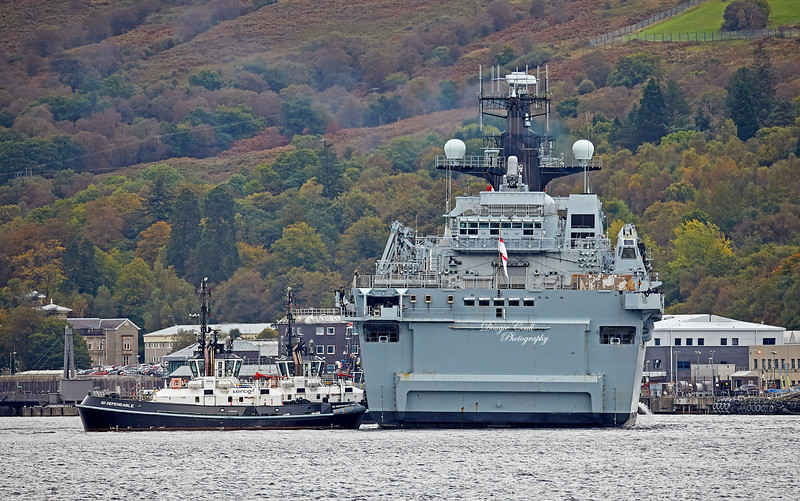 HMS Albion (L14) at Faslane Naval Base - 3 October 2019