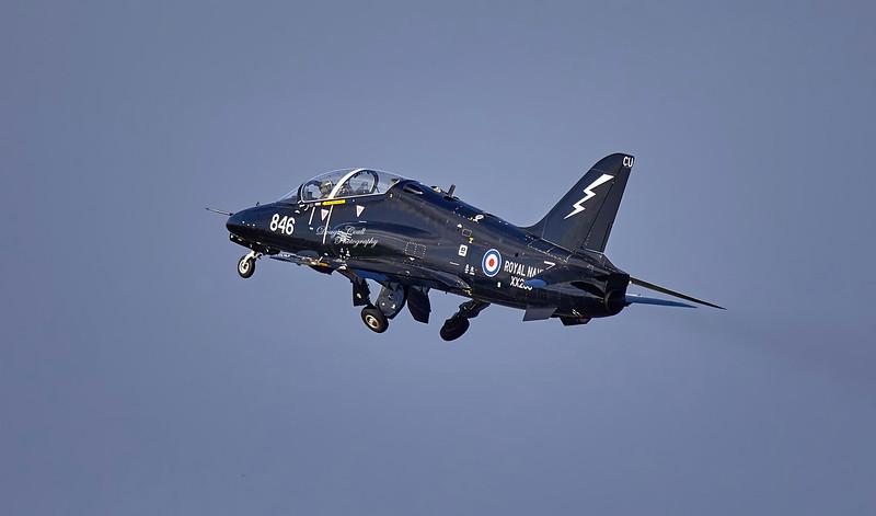 British Aerospace Hawk T.1A (XX256) at Prestwick Airport - 11 October 2019