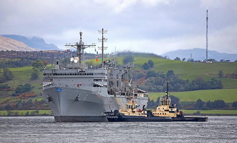 USNS Supply (T-AOE-6) at Greenock - 24 May 2021