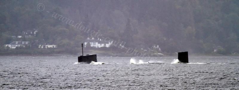 T Class Submarine on Exercise - Loch Long - 25 September 2011