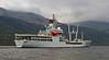 RFA Gold Rover berthing at Glen Mallan - 20 May 2014