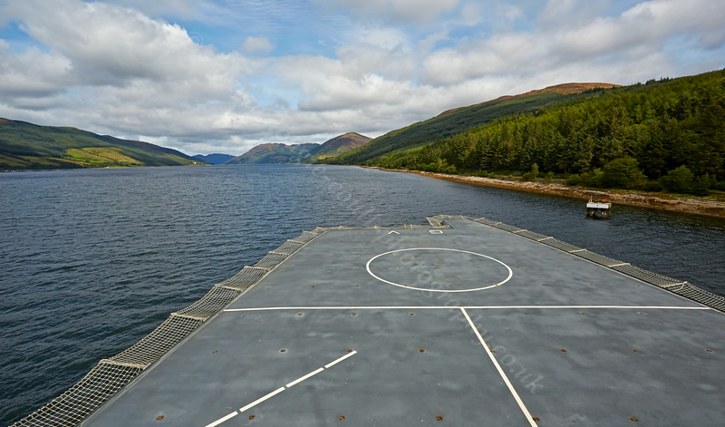 Flight Deck on the RFA Gold Rover at Loch Striven - 20 August 2014