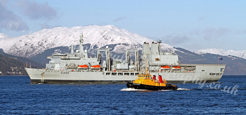 Fort George - River Clyde - Before Heading to Sadly be Retired