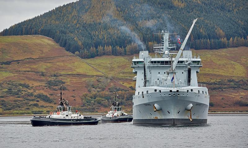 RFA Tideforce (A139) at Loch Striven - 17 October 2020