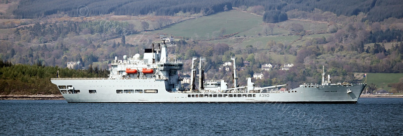 RFA Wave Ruler - Off Greenock Esplanade - 2 May 2012
