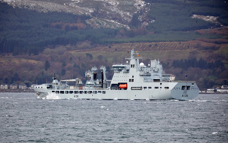 RFA Tidespring off Cloch Point, Gourock - 21 January 2019