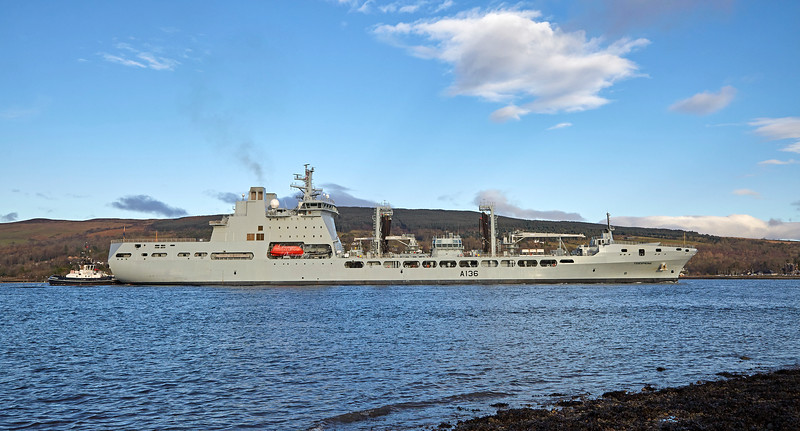 RFA Tidespring off Roseneath - 11 December 2017