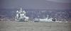 RFA Tidesurge (A139) and HMS Grimbsy (M108) off Greenock Esplanade - 18 February 2019