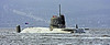 (HMS) Astute - Arriving at Faslane