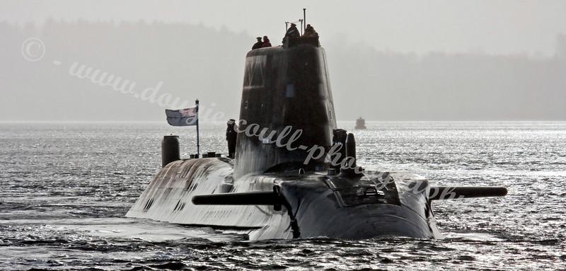 HMS Astute - First Faslane Visit