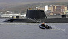 HMS Astute Close to Berthing