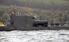 HMS Astute Departing Faslane Naval Base - 29 September 2012