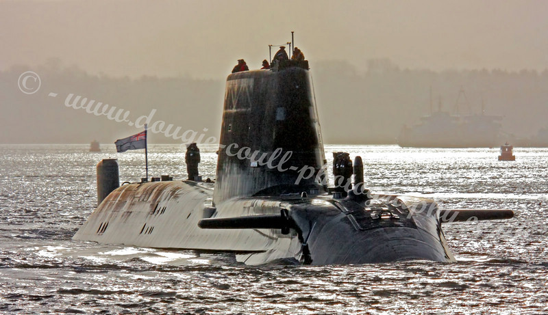HMS Astute In Gareloch Approaching Faslane