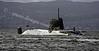 HMS Astute Approaches the Rhu Narrows