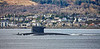 Walrus Class Submarine passing Cloch Point - 1 March 2017