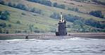 French 'Rubis' Submarine passing Rhu Spit - 31 May 2017