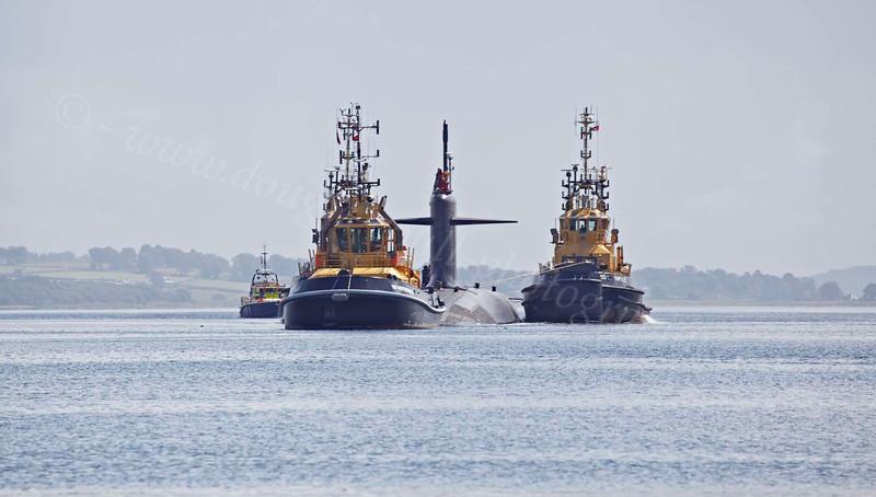 Le Triomphant (S616) Submarine - Gareloch - 2 August 2012